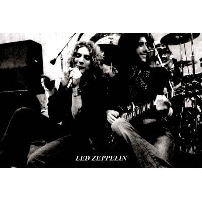 Led Zeppelin On Stage Poster