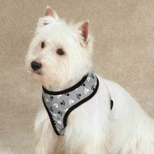 Reflective PawPrint Dog Harness