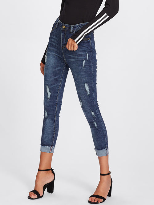 Roll Up Skinny Jeans