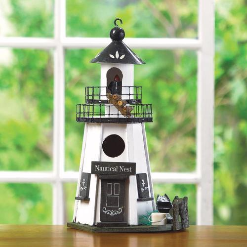Nautical Lighthouse Bird House