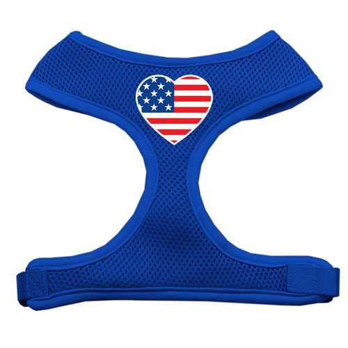 American Flag Heart Dog Harness