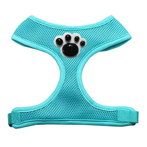 Black Paws Chipper Dog Harness in Aqua