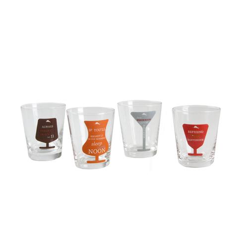 Tommy Bahama Set of 4 Shot Glasses