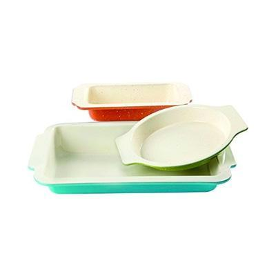 Gibson Home 3 Pc Ceramic Bakeware Set