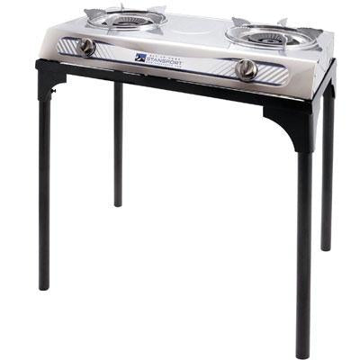 Stainless Steel 2 Burner Stove With Stand