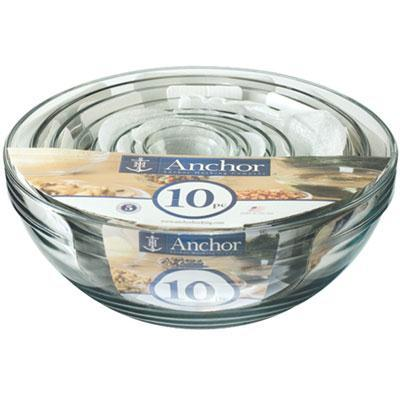 Anchor Hocking 10 Pc Mixing Bowl Set