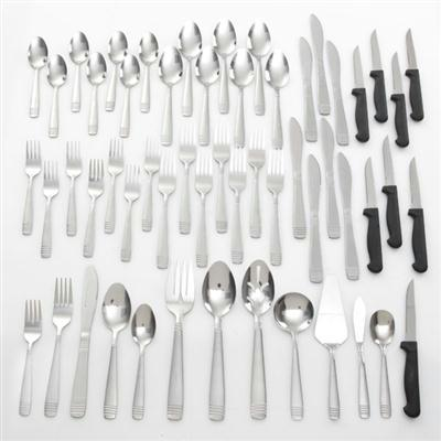 Gibson Home 55 Pc Palmore Plus Flatware Set