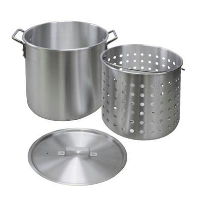 Chard 60 Qt Aluminum Pot with Strainer Basket