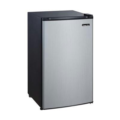 Magic Chef 3.5 Compact Stainless Steel Fridge with Freezer