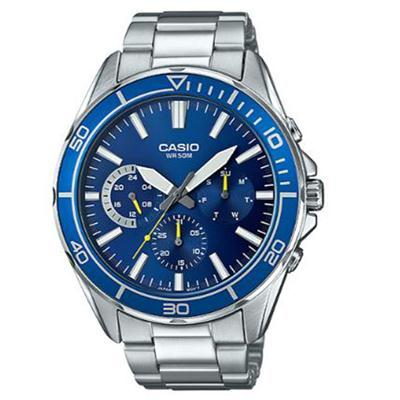 Diver Analog Watch Slvr Blue