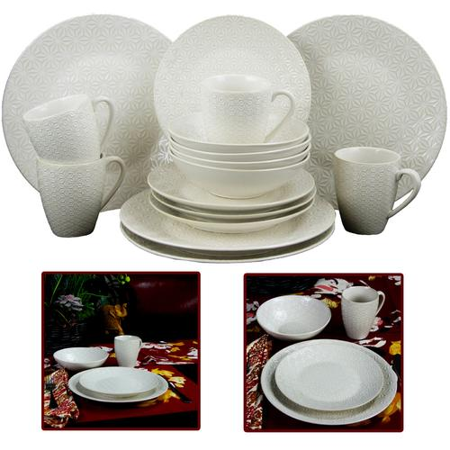 Elama Ivory Terrace Dinnerware Set