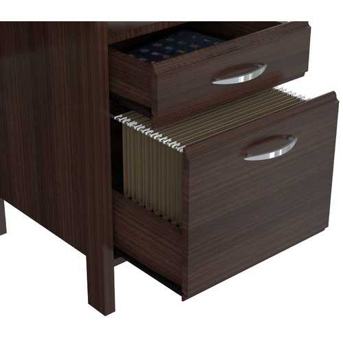 Chrome metal Soft form Computer Desk with Handles - Melamine /Engineered wood