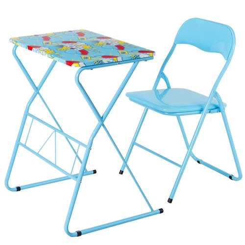 Home School Kids Study Writing Folding Table Chair Set