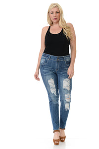 Sweet Look Premium Jeans - Plus Size - HW