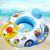 Inflatable Pool Ring with Steering Wheel