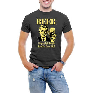 Beer Helping Ugly People Men's T-Shirt