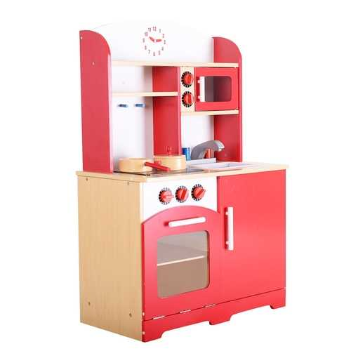 Kids Cooking Pretend Play Toy Kitchen Set