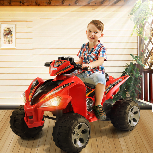 12 V 2 Colors Kids Ride on Car ATV 4 Wheels