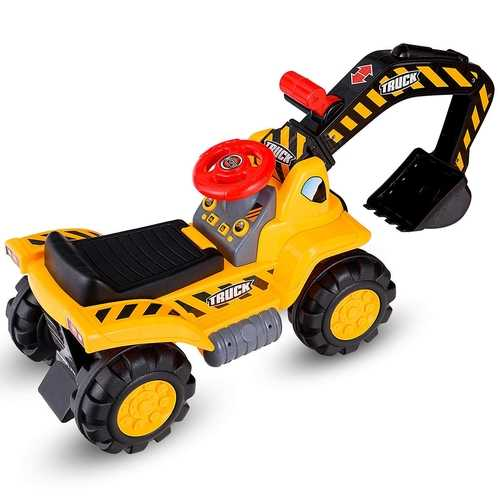 Kids Toddler Ride On Excavator Digger Truck Scooter