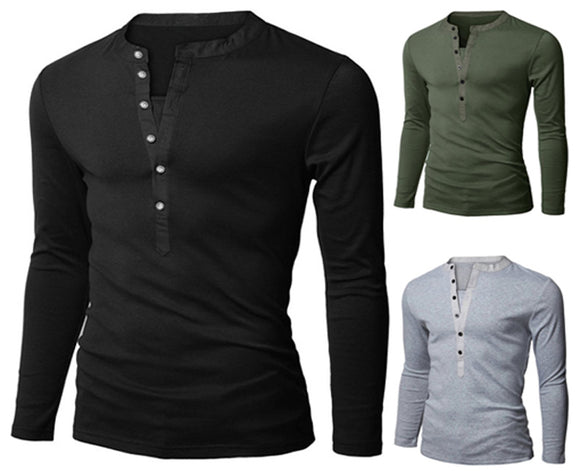 Casual Slim Fit Long-Sleeved T-Shirt