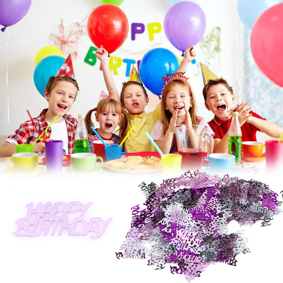 200 PCS Plastic Happy Birthday Confetti