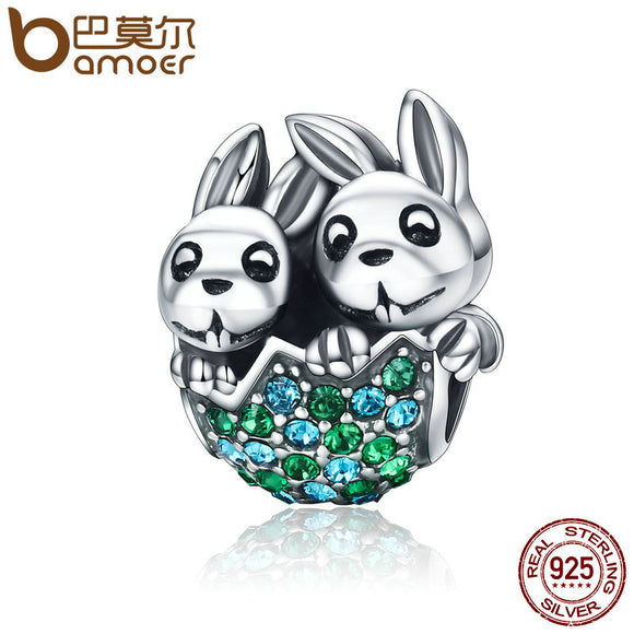 925 Sterling Silver Easter Rabbit Charm
