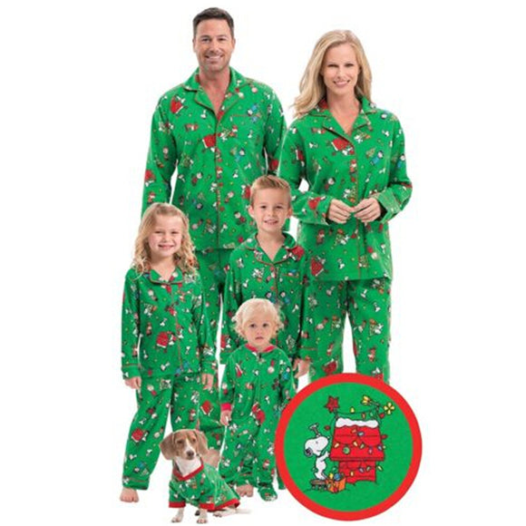 Snoopy Xmas PJ's for the Family
