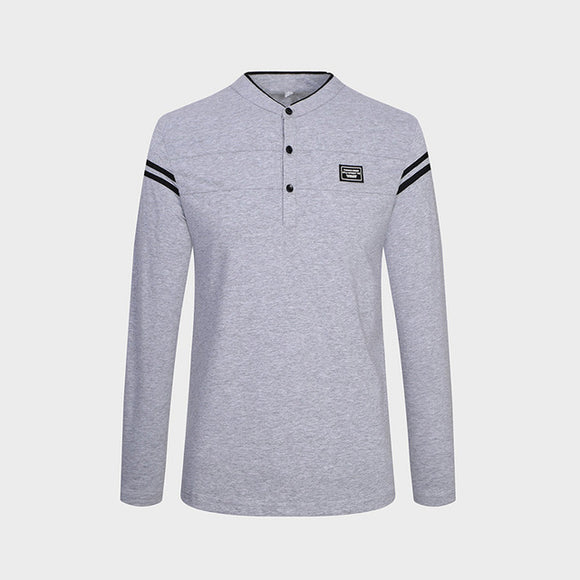 Cotton Slim Fit Long Sleeve Polo