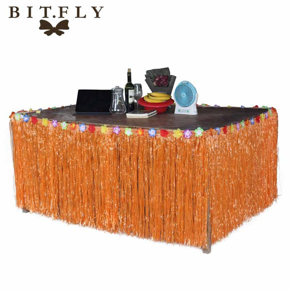 275*75cm Artificial Grass Table Skirt for Hawaiian Party