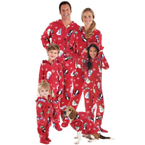Family Matching Christmas Hooded Sleepwear
