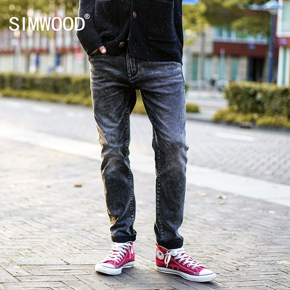SIMWOOD Washed Straight Leg Jeans