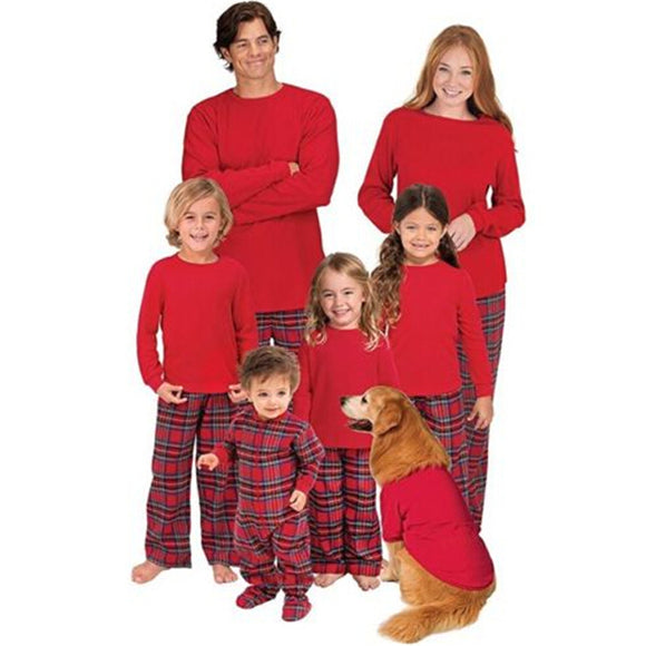Family Matching Plaid Pajama Sets