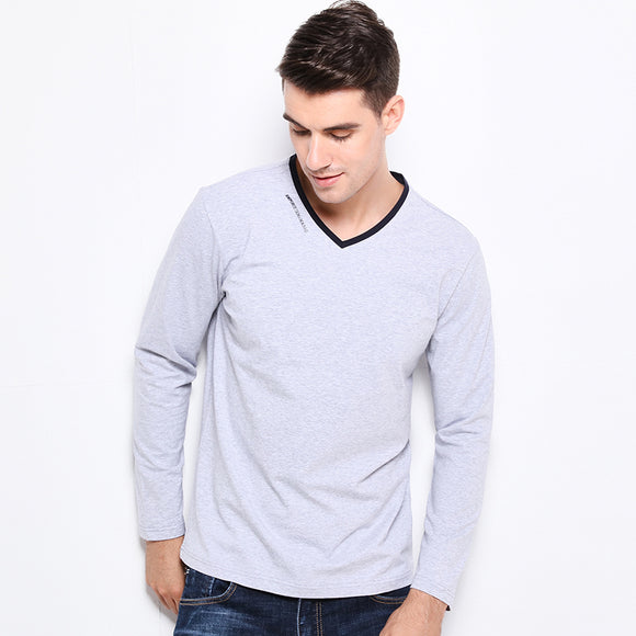 V-Neck Slim Fit Long Sleeve Casual Shirt