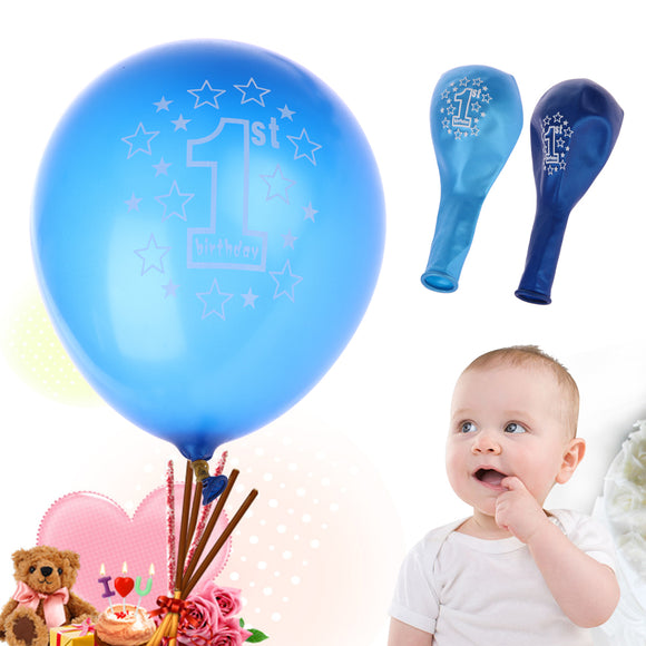 10pcs/lot  1st Birthday Printed Balloons - Latex
