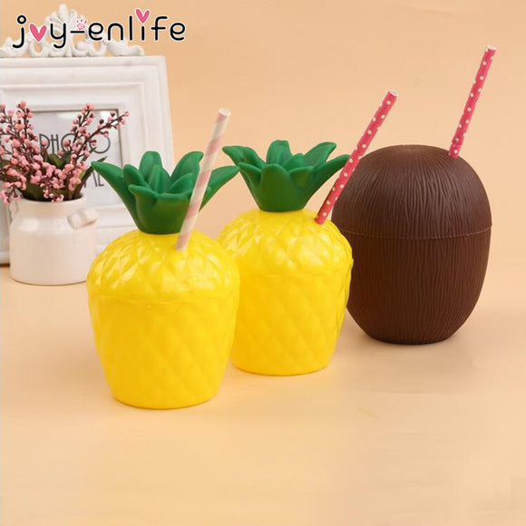 Plastic Fruit Pineapple Coconut Drinking Cups