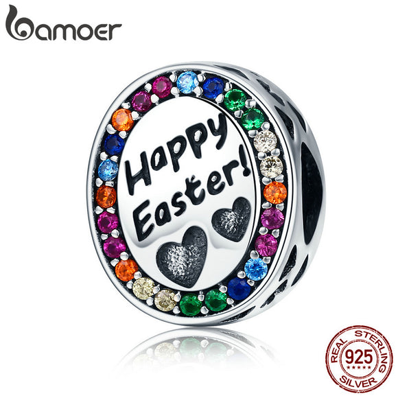 Easter Collection 100% 925 Sterling Silver Happy Easter Charm