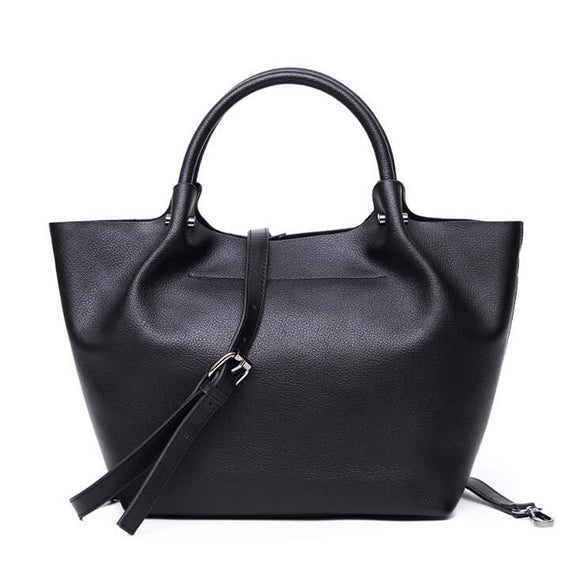 Casual Genuine Leather Big Capacity Tote