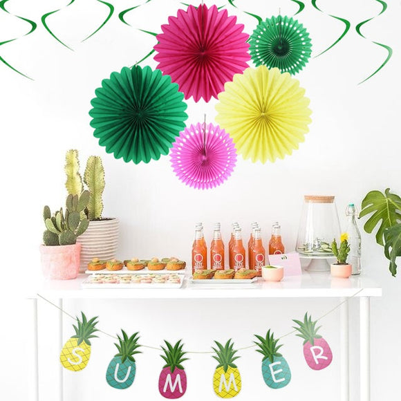 10pc Summer Party Decoration Kit Pineapple-Shape
