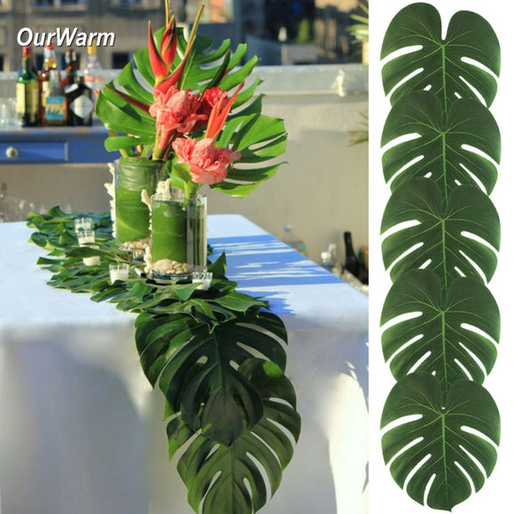 12PCS Artificial Palm Leaves