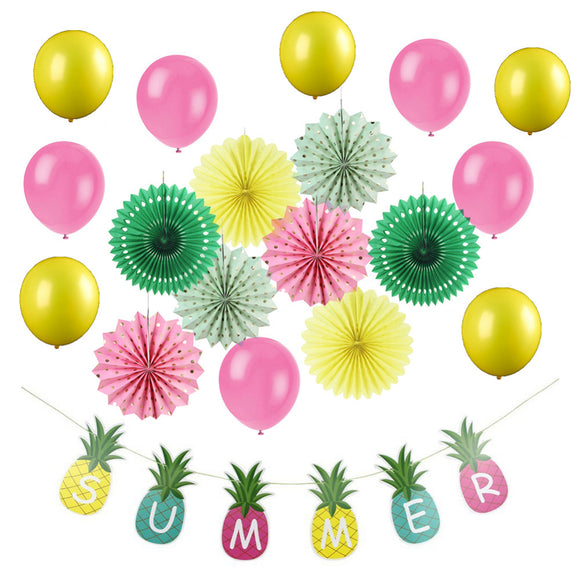 19pcs Summer Party Decoration Set - Pineapple