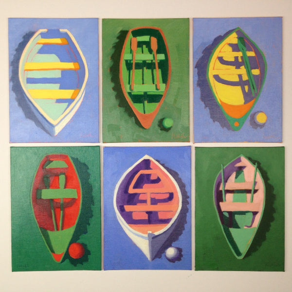 Buoy & Dinghy Oil Paintings
