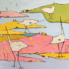Salmon Marsh painting by Phyllis Dobbyn Adams, available at The Drawing Room