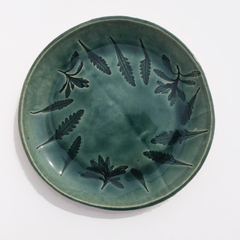 Amy Thurber #1043 Spanish Lavender Plate