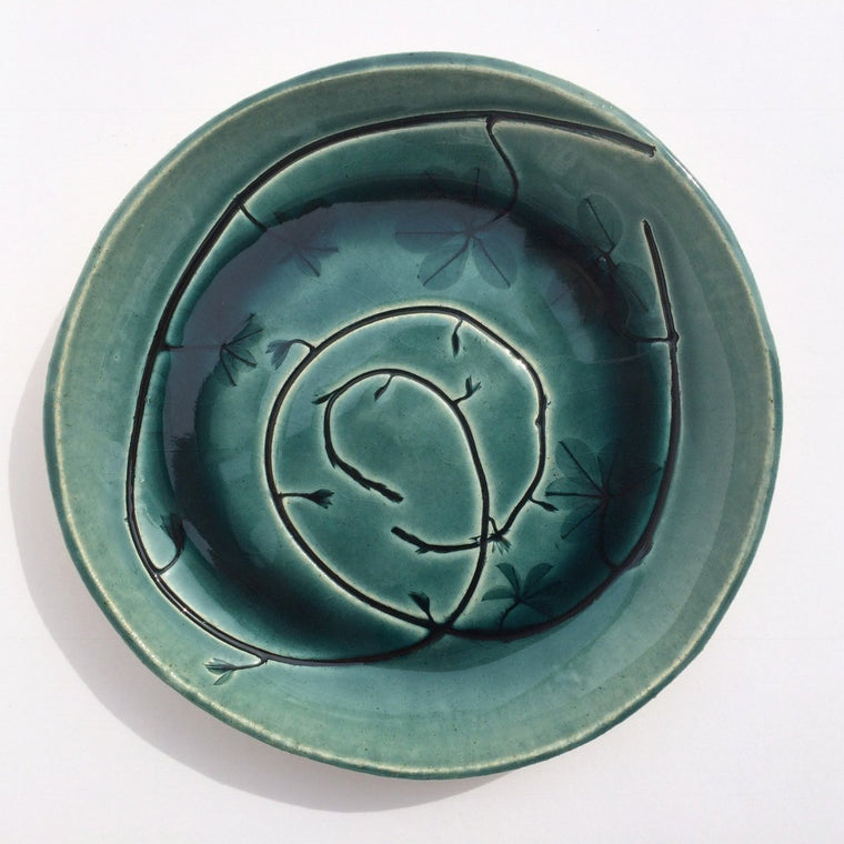 Amy Thurber #1059 Chocolate Vine Plate
