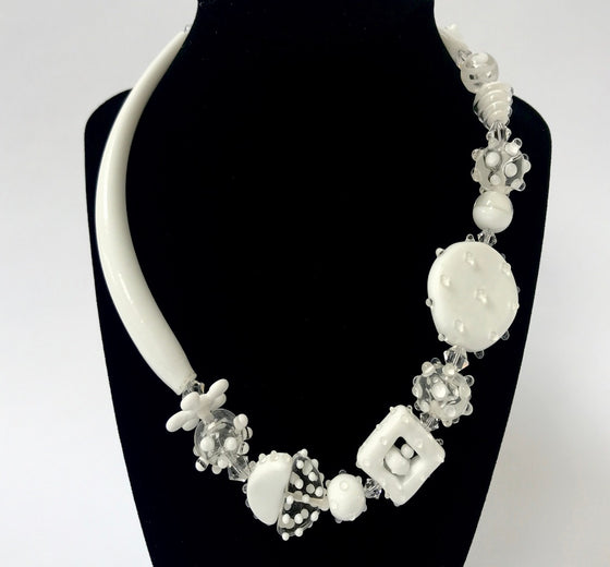 White Caress Necklace by Jasmine Keane
