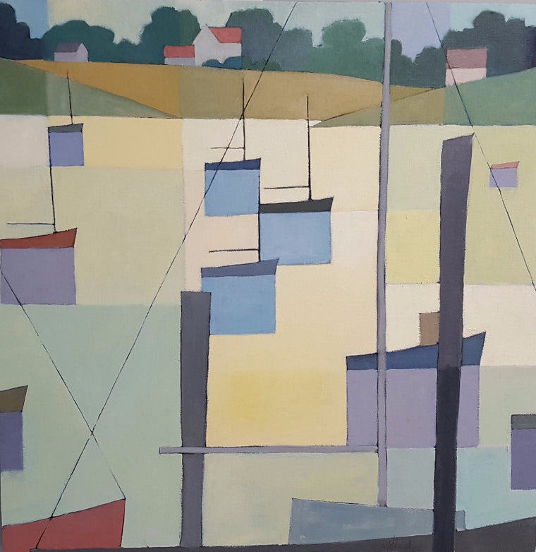 cove geometry oil painting
