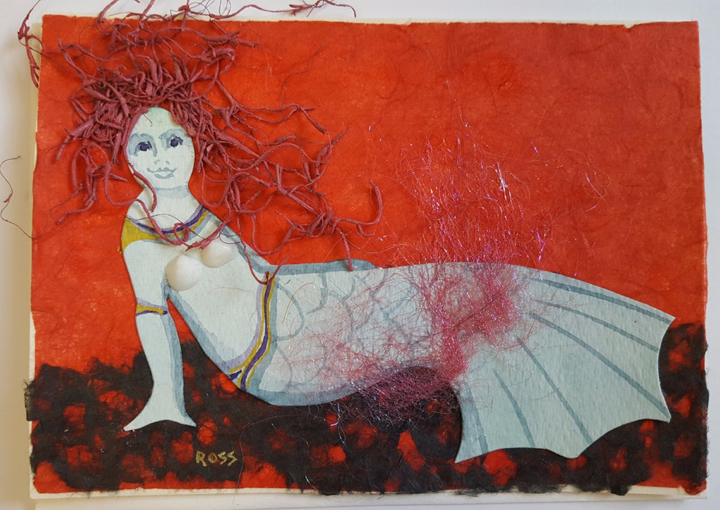 Mermaid Greeting Cards by Mary Ross
