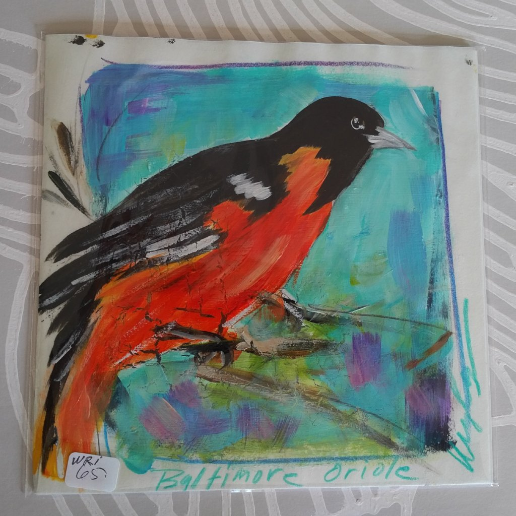 Oriole on Paper, Original Painting