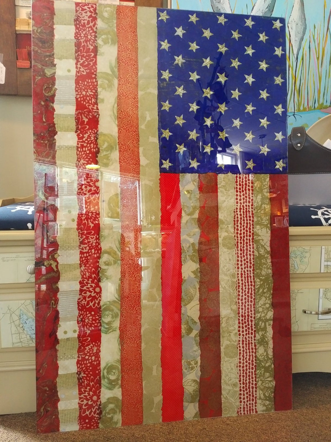 Old Glory by Kolman Artisan Glass