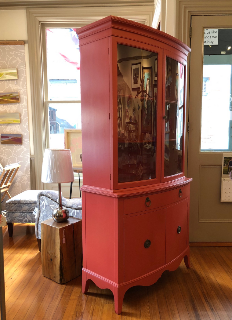 China Cabinet - Mahogany Frame - Farrow and Ball Blazer